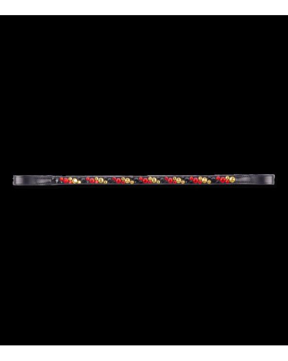 Frontal Waldhausen Wembley - Noir - Cheval 9568002-WB Waldhausen Accessoires Brideries