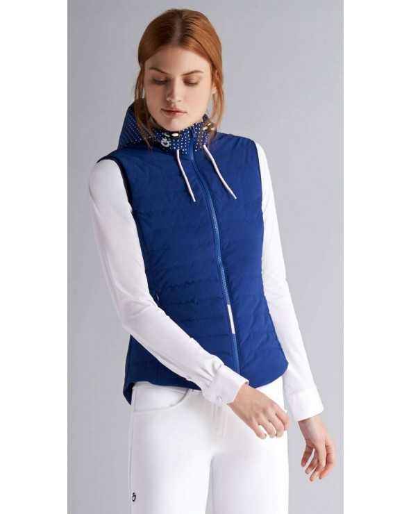Doudoune sans manches CT - Amazzone Puffer Vest - Bleu électrique - 7501 - S GLD173 JE043 Cavalleria Toscana Vestes sans manches