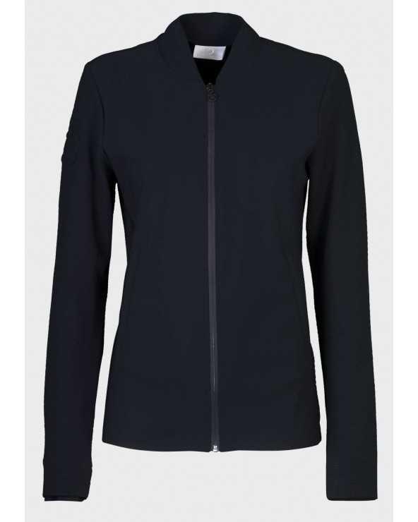 Veste Sportswear CT - Embossed Jersey Jacket - Bleu marine - 7979 GID194 JE063 Cavalleria Toscana Parkas & Doudounes