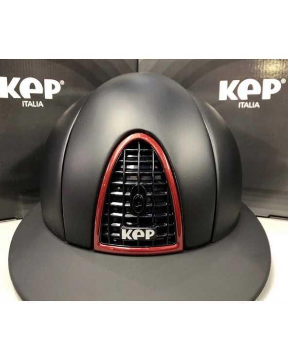 Casque Kep visière Polo - Noir liseret Bordeaux casquekep Kep Cavalier