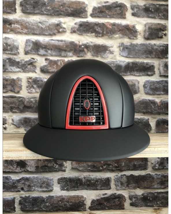 Casque Kep visière Polo - Noir liseret Rouge casquekep Kep Cavalier