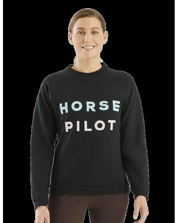 Sweat Team Femme Horse Pilot - Noir  Horse pilot Pulls et Gilets